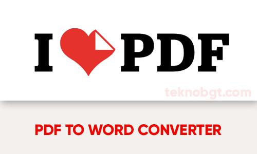ilove pdf to word online converter